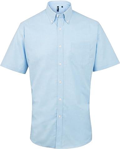Premier - Camisa de Manga Corta Modelo Oxford Signature para Trabajar Hombre Caballero- Trabajo/Fiesta/Verano: Amazon.es: Ropa y accesorios