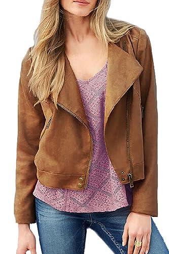 Manga larga YACUN mujer con cremallera chaqueta Casual