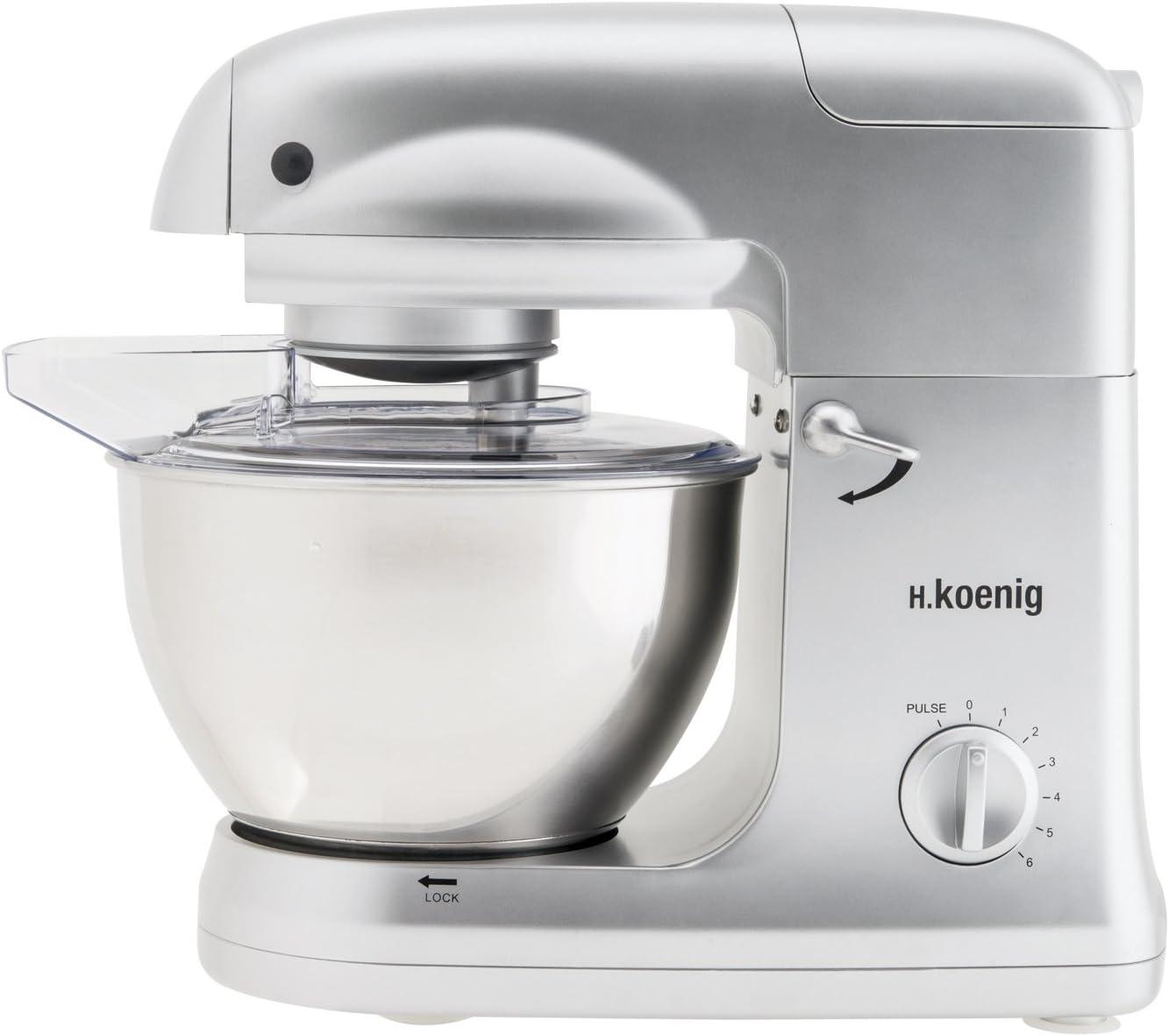 H.Koenig KM 78 KM78-Robot de Cocina multifunción, batidora amasadora, 5 l, 1000 W, Acero Inoxidable: Amazon.es: Hogar