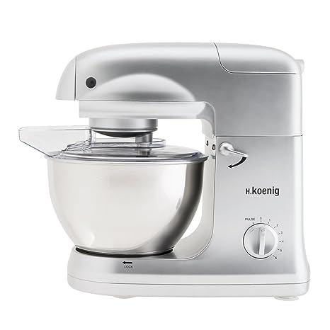 H.Koenig KM78 - Robot de cocina multifunción, batidora amasadora, 1000 W,