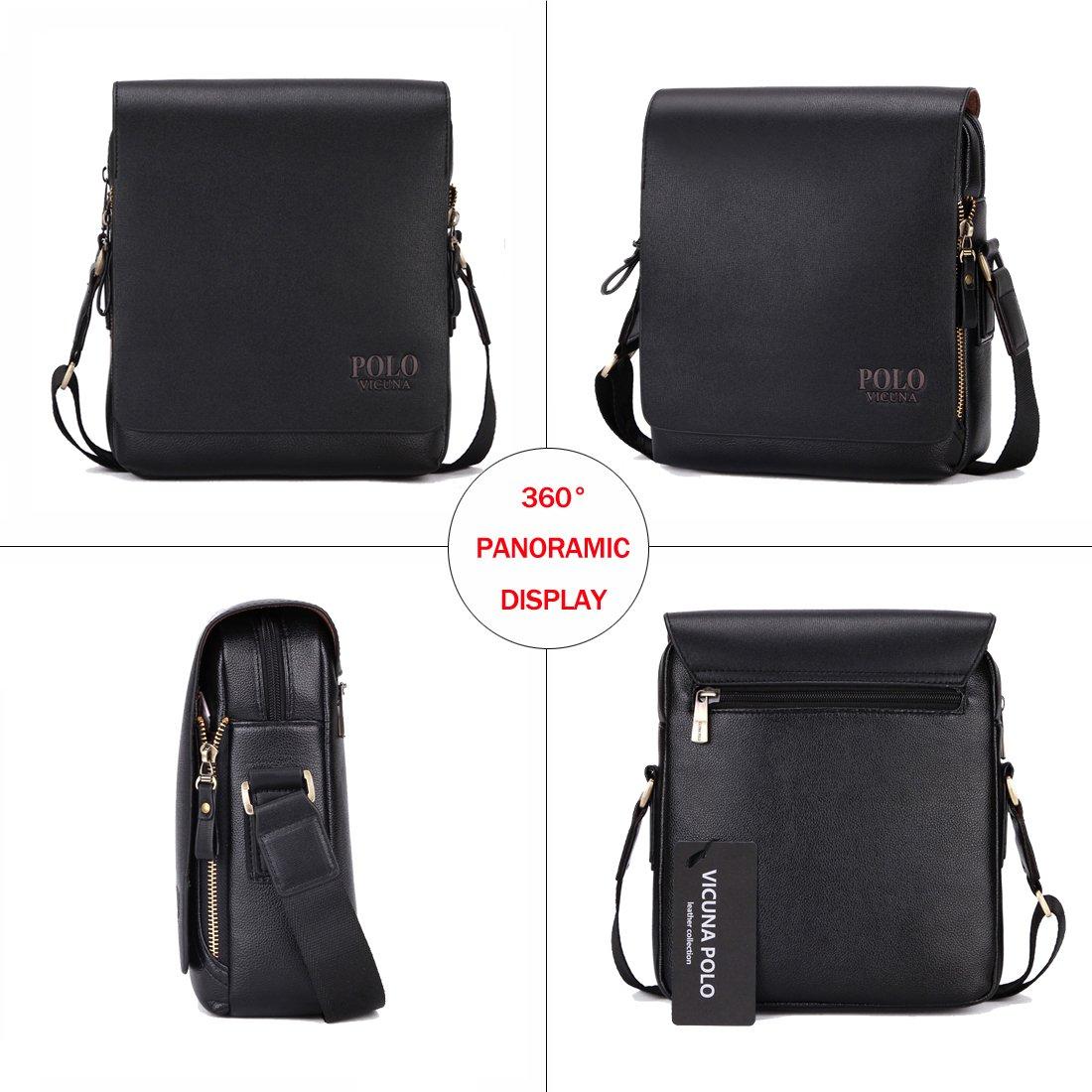 VICUNA POLO PU Leather Men Messenger Bag Cross Body Bag Shoulder Bag For Men (large, black)  Amazon.in  Bags, Wallets   Luggage 80990815bd
