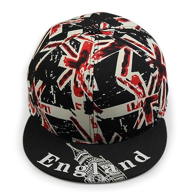35a2cdc9e92 Image Unavailable. Image not available for. Color  LOCOMO UK Britain Union  Jack Flag England Patriot Snapback Cap FFH258BLK