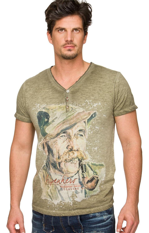 Trachten T-Shirt Wiggal kiesel