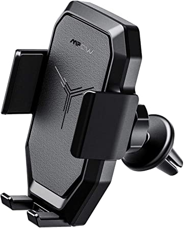 Qi Wireless Car Charger Mount,UVIA Phone Holder Universal Air Vent Phone Mount Fast Charger,Adjustable 360 Degree Rotation Cellphone Mount One-Butto Compatible with iPhone X//8//XR,Samsung S10//S9//Note 9
