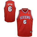 Genuine Stuff Philadelphia 76ers Youth Julius Erving NBA Soul Swingman  Jersey - Red  6 929ae71f1
