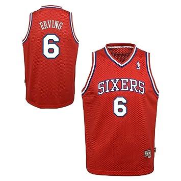 Julius Erving Philadelphia 76ers NBA - Camiseta de Soul Jersey - rojo,, Rojo: Amazon.es: Deportes y aire libre