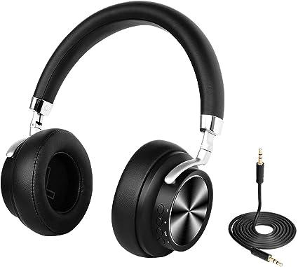 DIGITNOW! Cuffie Bluetooth , Audio Stereo Hi fi Microfono Incorporato con Jack Audio da 3.5 mm , Over Ear Headphones Wireless Pieghevole