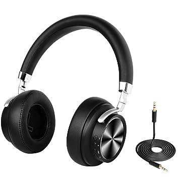 9ce9b889cbe Auriculares inalámbricos Bluetooth 4.1 sobre Oreja con micrófono, audífono  estéreo rápido de Baja latencia para