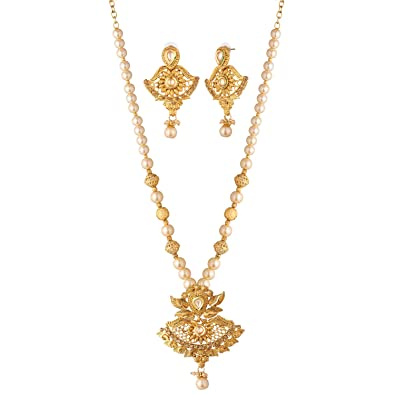 519790579d4 Buy Apara Pearl Long Necklace Set for Women/Girls Online at Low Prices in  India | Amazon Jewellery Store - Amazon.in