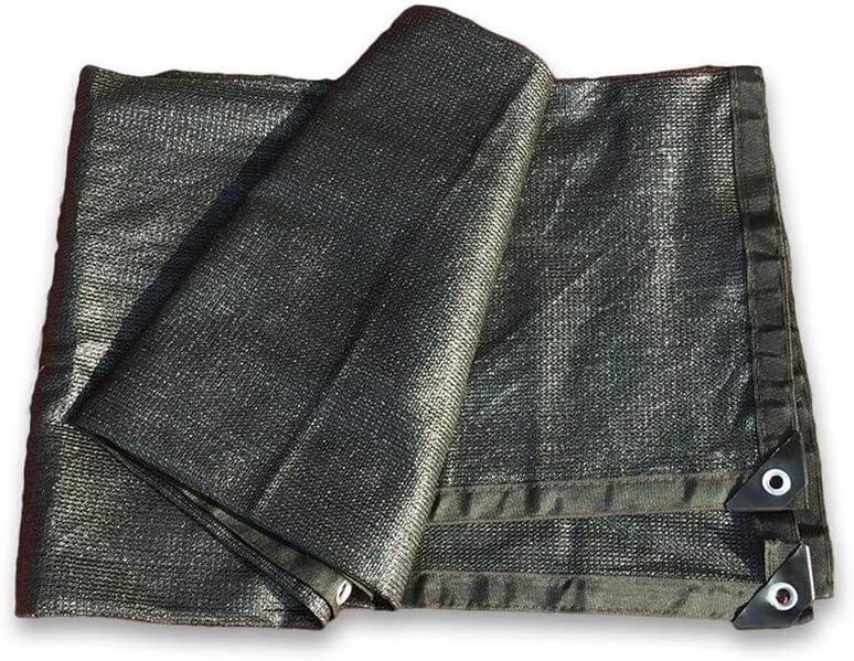 XIAOLIN グロメット付き日焼け止めシェード布植物カバー納屋犬小屋プールパーゴラまたはスイミングプールのための80%UVブラック (Size : 4X10m)  4X10m