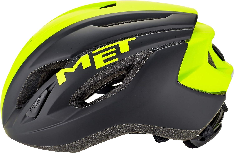 Casco de Bicicleta Amarillo//Negro 2019 MET Strale