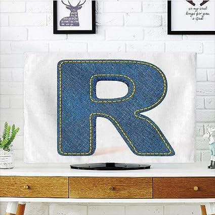 Amazon.com: iPrint LCD TV dust Cover,Letter R,Retro Denim Style ...