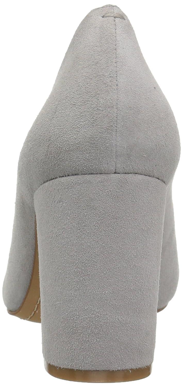 206 Collective Women's Coyle Round Toe Block Heel High Pump B07895SMKN 7.5 C/D US|Gray Suede