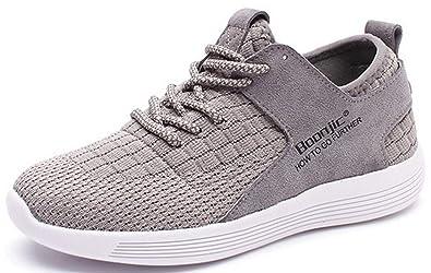8e8709e65cb22 Femme Chaussure de Sport pour Running Sneakers Casuel Etudiante Tissu  Confortable Basket Mode Loisir Léger Tendance