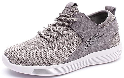 ed1e09fa4893a LFEU Mujers Zapatos Deportivos Correr Cesta Transpirable Moda Velcro Tela  Cómodo Zapatillas Ocio Tendencia Resistencia Gris 37  Amazon.es  Zapatos y  ...