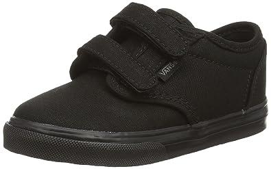 vans shoes black on black. vans toddlers atwood v (canvas) black/black skate shoe 4 infants us shoes black on s