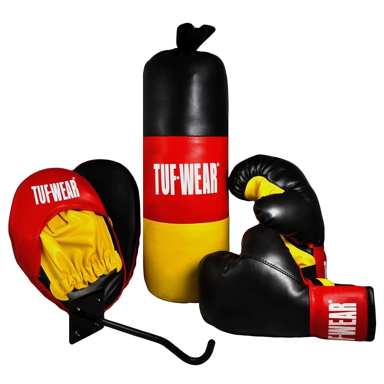 Boxing Set Junior Gloves Pads Punchbag Tuf Wear