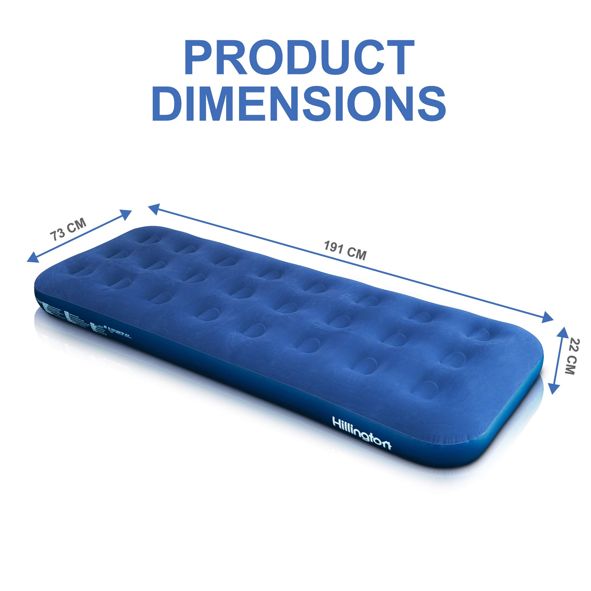 FiNeWaY INFLATABLE FLOCKED AIR BED AIRBED MATTRESS CAMPING INDOOR OUTDOOR