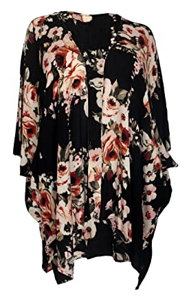 eVogues Plus size Long Kimono Cardigan at Amazon Women's Clothing ...