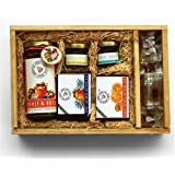 THE HONEY SHOP® - Honey Motley Gift Hamper - Healthy & Unique Gift - Packed in Hand Crafted Pine Wood Boxes (Pack of 1)