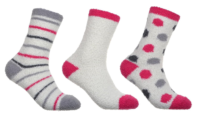 WB Socks 3 paia di calze calde e soffici- da letto, comode