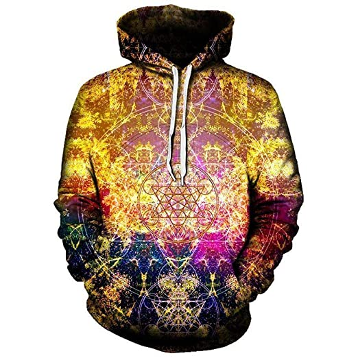 25f45cb18f685 Set 4 Lyfe Pineal Metatron Hoodie - Premium All Over Print Hooded  Sweatshirt - Small