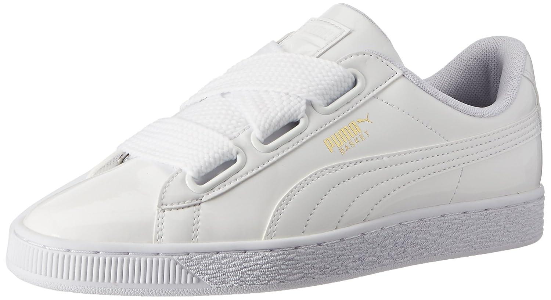 Puma Basket Heart Patent Wn's, Zapatillas para Mujer 36 EU|Blanco (White-white)