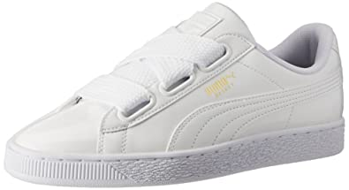 671de07f3a8 Puma Women's Basket Heart Patent Sneakers: Buy Online at Low Prices ...