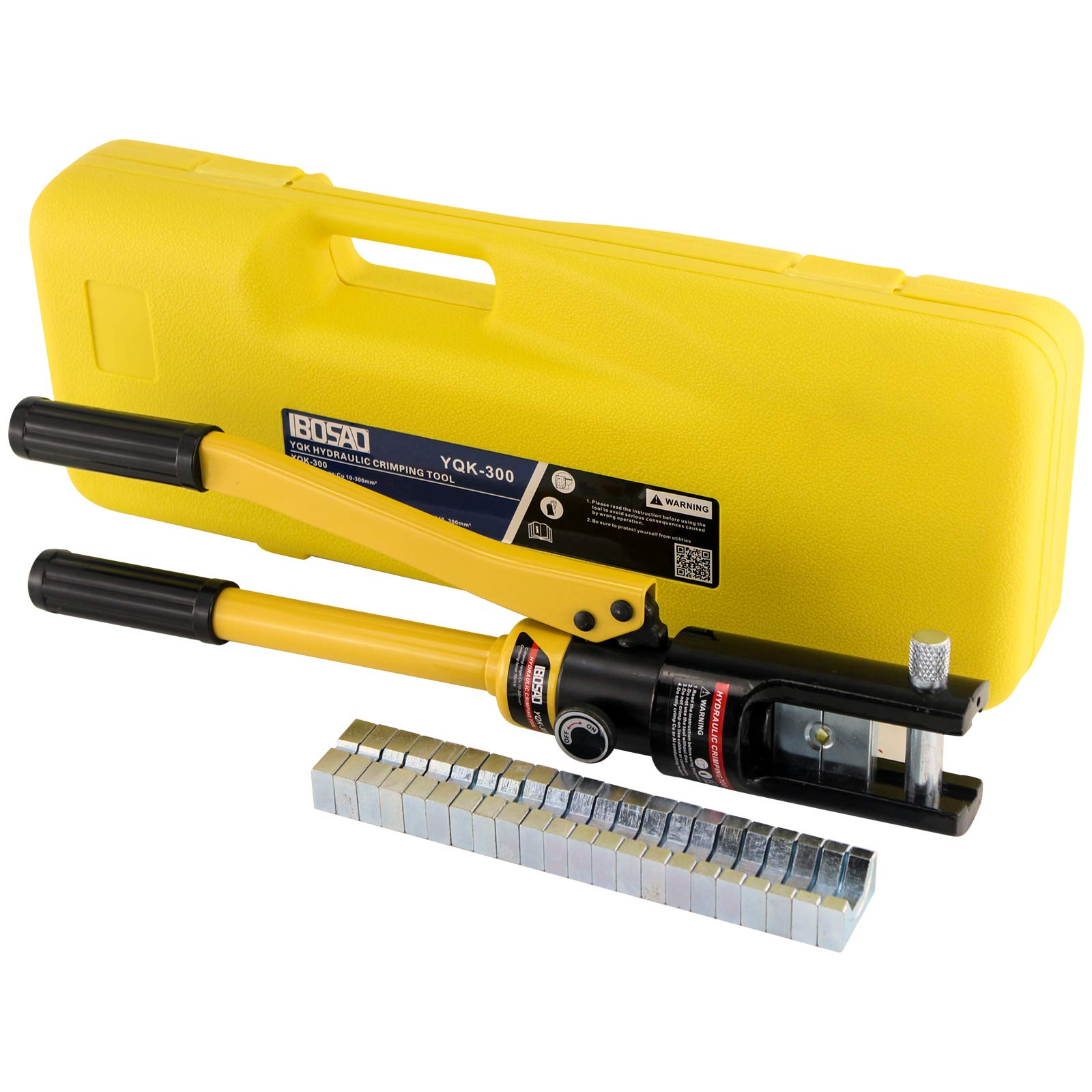 IBOSAD Hydraulic Cable Lug Crimper Crimping Tool 6 AWG-600 MCM Electrical Battery Terminal Cable Wire Tool Kit Wire