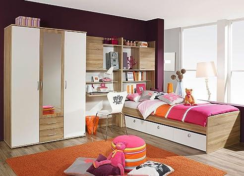 Jugendzimmer für jungs komplett  Jugendzimmer Set, komplett, Mädchen, Jungen, Kleiderschrank ...