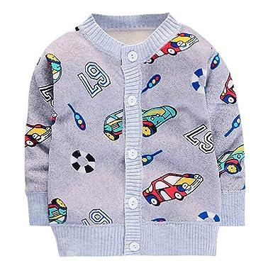 a024cee59 H.eternal 🐰Baby Unisex Warm Sweater Coat Jacket Knitwear Long ...