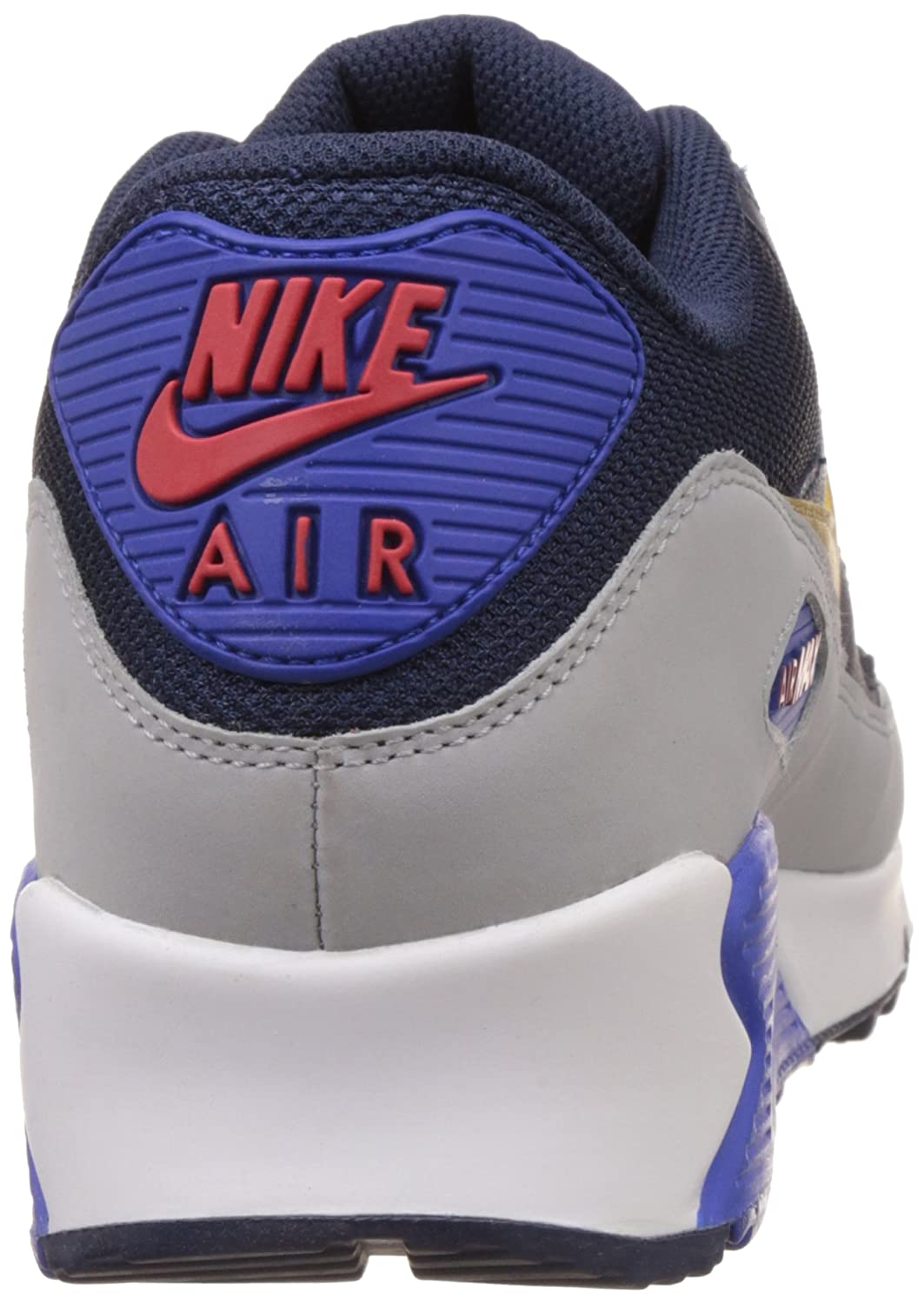 Classic Nike Men's Air Max 90 Essential Mesh Blue Grey Running Shoes 537384 409