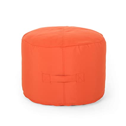 Stupendous Great Deal Furniture 307773 Crystal Cay Outdoor Water Resistant 2 Ottoman Pouf Coral Beatyapartments Chair Design Images Beatyapartmentscom