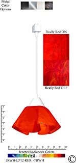product image for Jezebel Radiance JRWH-LP12-RER-TRWH White Lily Track Light, Small, Fiery Red