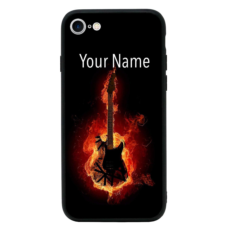 I-CHOOSE LIMITED Personalizado Tu Nombre Guitarra Funda de Cristal ...