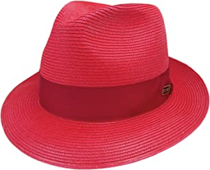 10b9ea8b Dobbs DSRBUD Men's Rosebud Straw Hat, ...