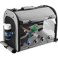 ABONERY Bird Travel Bag Portable Bird Parrot Carrier Transparent Breathable Travel Cage, Lightweight Bird Carrier with…
