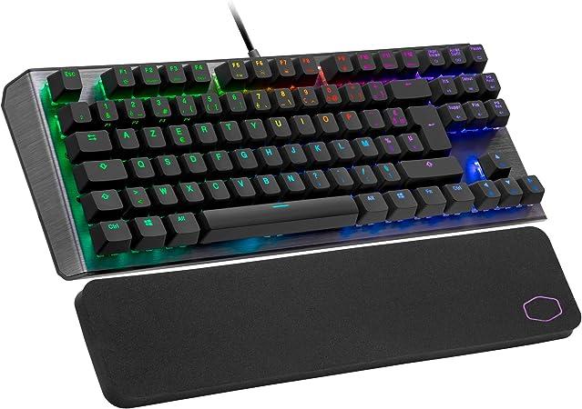 Cooler Master CK530 V2 Teclado Mecánico Tenkeyless para Gaming, Retroiluminación RGB por Tecla, Controles On-the-Fly, Placa Superior de Aluminio y ...