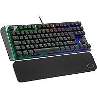 Cooler Master CK530 V2 mekanik oyun klavyesi, rakam bloksuz, RGB arka plan aydınlatması, uçuş kontrolü, alüminyum, bilek…