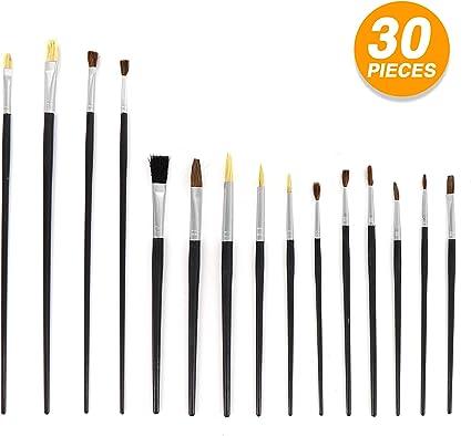 New 4 Chunky Brush Set Painting Arts Craft Drawing Brushes Children Paintbrush