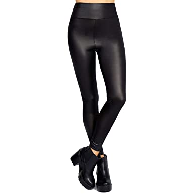 945393f3bc2 New Women Ladies High Waisted PVC Leather Wet Look Leggings Pants Plus Size  8-24