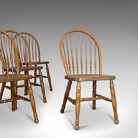 Set di quattro sedie per sala da pranzo, francese Windsor Hoop stick ...