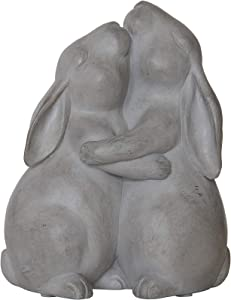 Creative Co-op Resin Hugging Rabbits Decoration