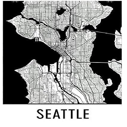 Amazon Com Seattle Poster Seattle Art Print Seattle Wall Art