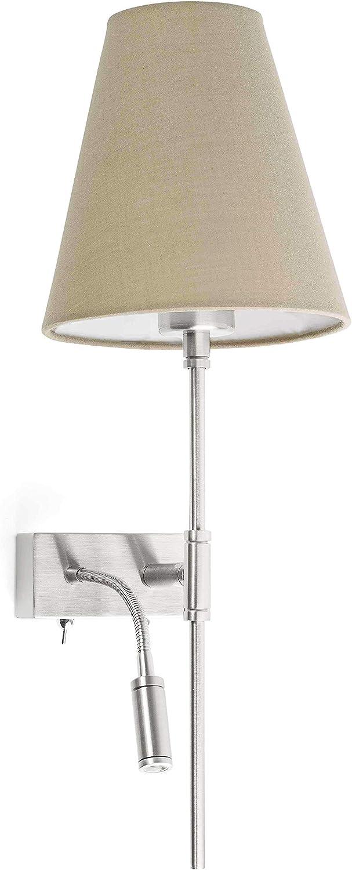 Faro Barcelona 20302-92 SAVOY Lampe applique avec lecteur blanc//blanc