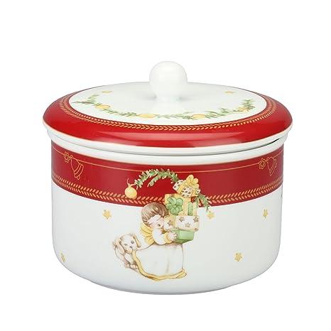 THUN Biscottiera Dolce Natale Porcellana 3 l: Amazon.it: Casa e cucina