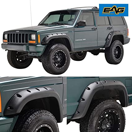 EAG Fender Flares Rivet Style Bolt on Pocket Fit for 84-01 Jeep Cherokee XJ