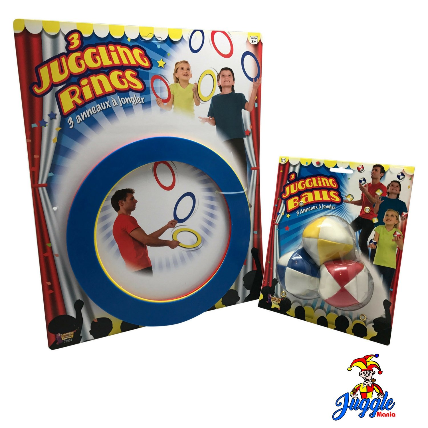 Juggling Set For Beginners Includes Juggling Balls and Juggling Rings by Juggle Mania
