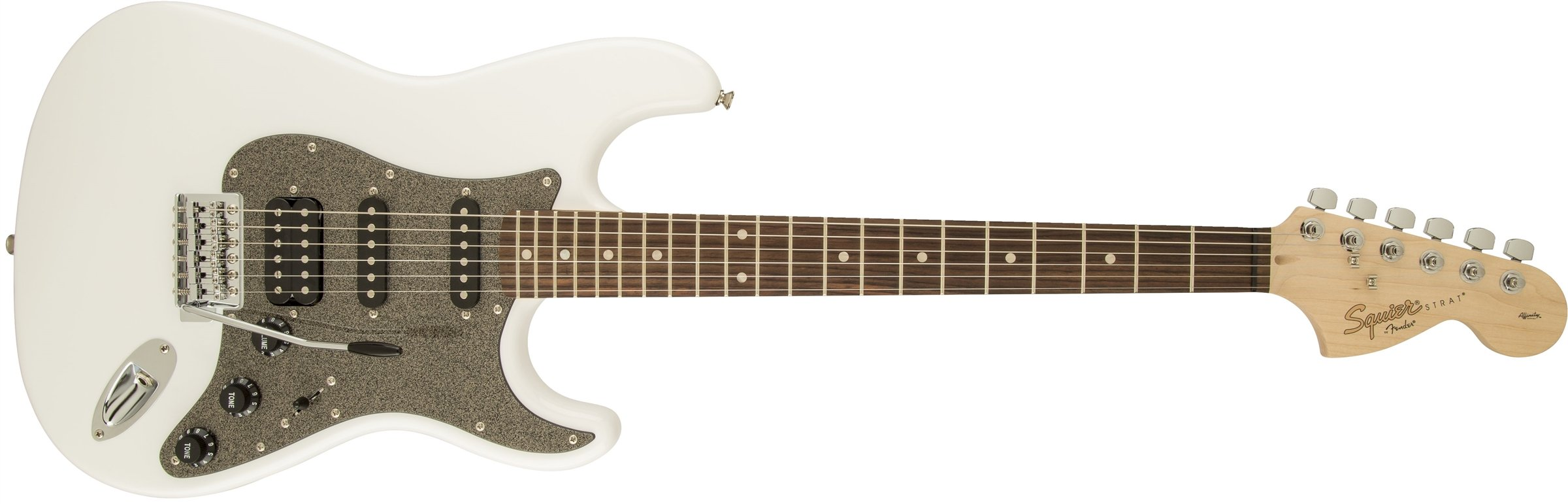 Squier by Fender Affinity Stratocaster Beginner Electric Guitar HSS - Rosewood Fingerboard, Olympic White