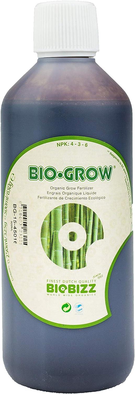 Weedness Biobizz Bio Grow 500ML.–Abono Natural Fertilizante abono Fertilizante Grow Cannabis